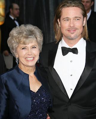 Brad Pitt e sua mãe Jane Etta (Foto: Getty Images)
