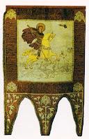 Steag de luptă al lui Ştefan cel Mare, cu Sfântul Gheorghe călare