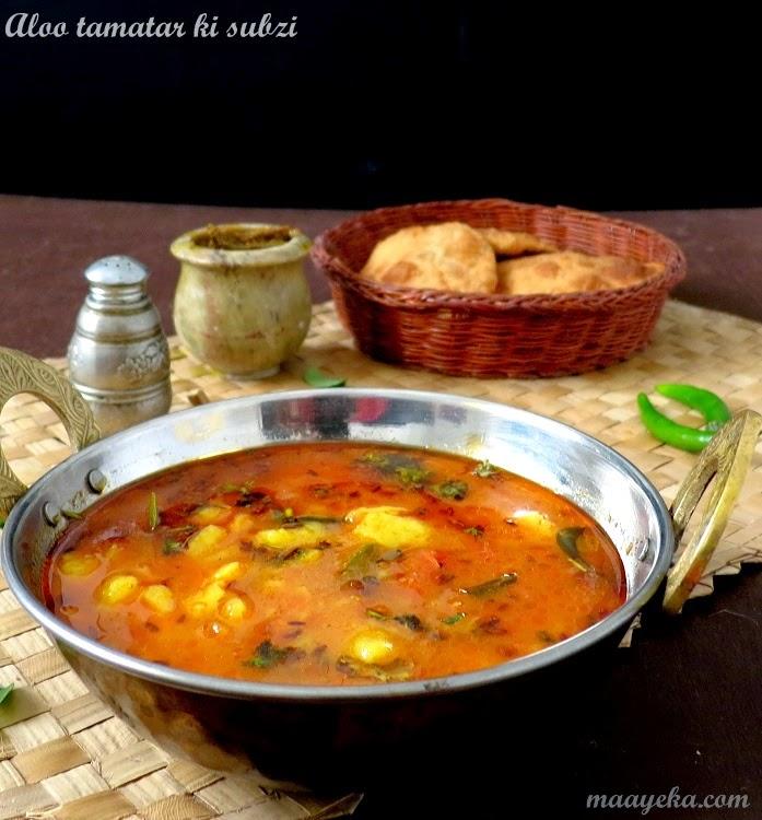how to make tomato and potato curry