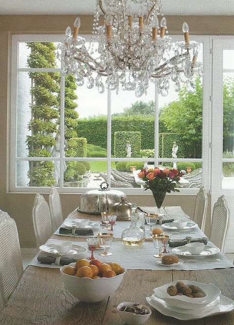 A converted mill in the Flemish countryside, dining room with a view, via Art et Dcoration edited by lb for l&amp;l