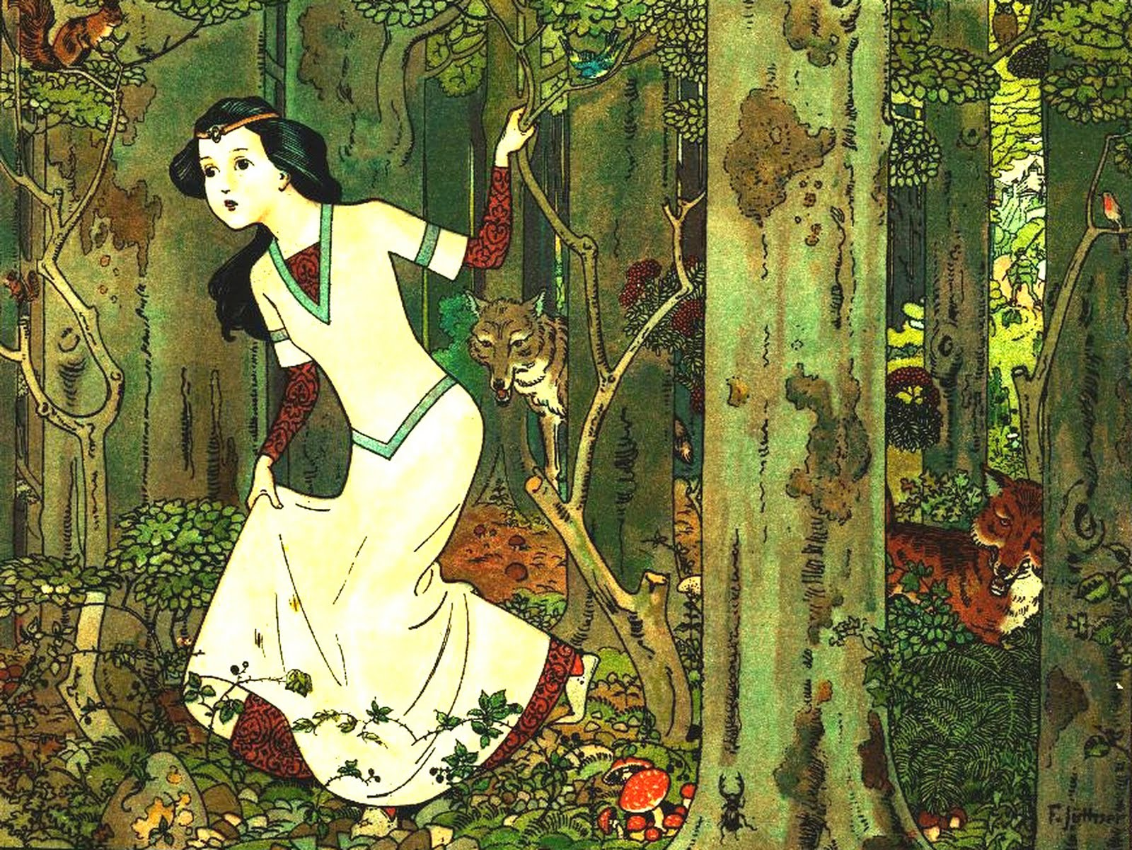 Snow White in the Woods