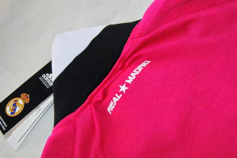 Jaket Bola Terbaru Madrid Away Pink 2014 2015