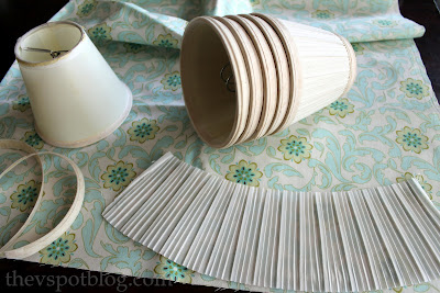 Disassembled lamp shades