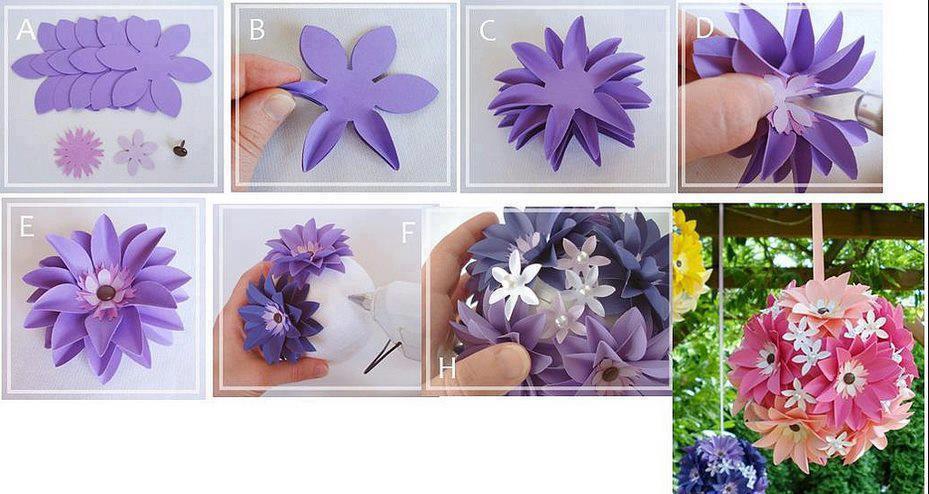 Papel adornos flores mariposas y hasta vestidos