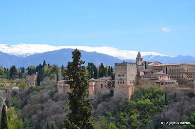 Vue sur l'Alhambra depuis l'Albaicin