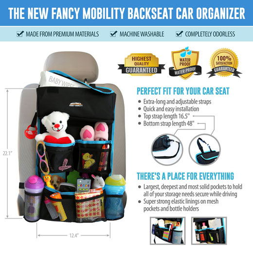 Backseat Car Organizer Plus Car Visor Organizer #FancyMobility