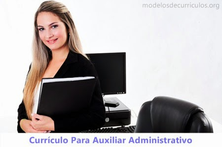 Currículo Auxiliar Administrativo Modelo