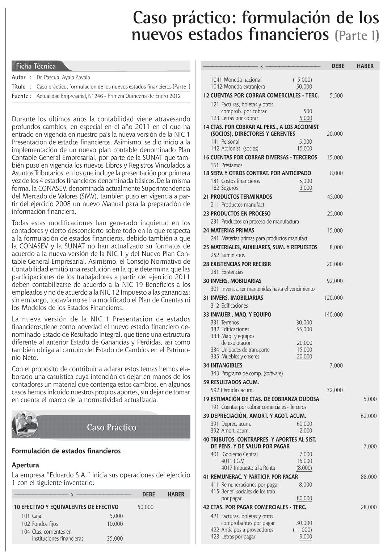 Caso practico formulaci n de los nuevos estados financieros actualidad empresarial contable - Esquema caso practico trabajo social ...