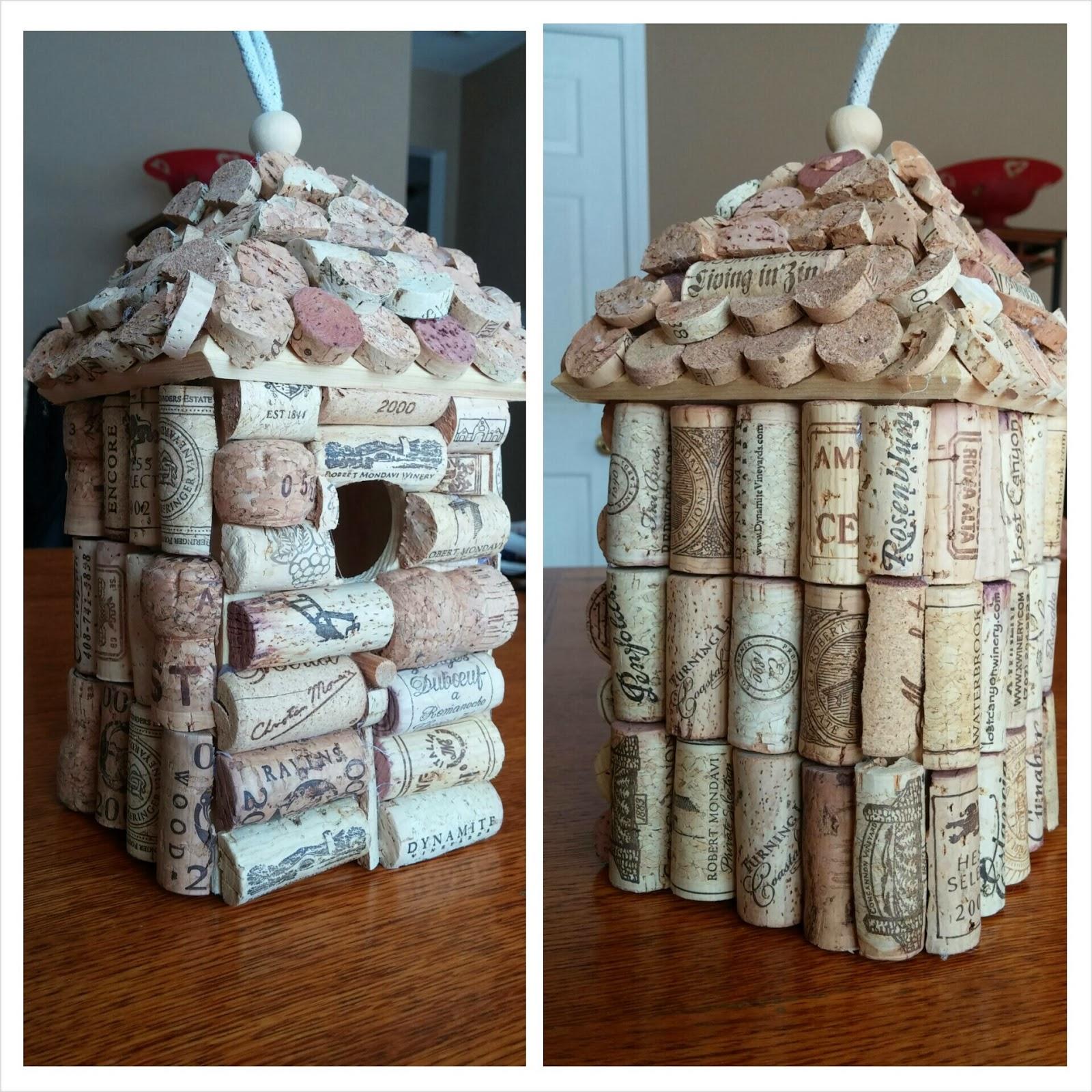 Corky Crafts Knit Hats Making A Wine Cork Birdhouse