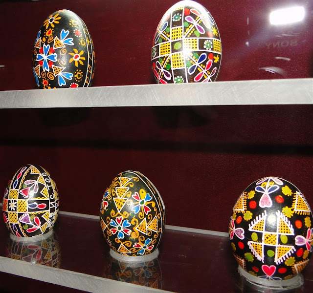Pysankas are Hand Painted Ukrainian Easter Eggs