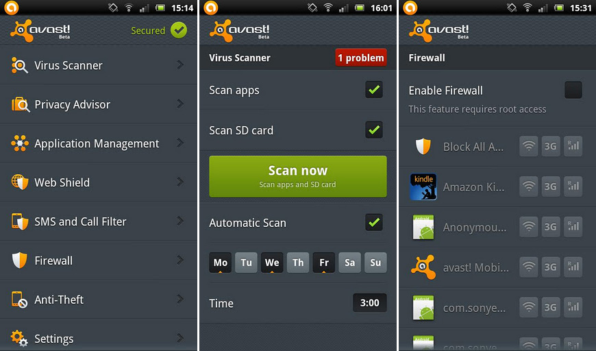 avast mobile security antivirus v3 0 6158 android apk