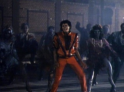 Michael Jackson, dancing in Thriller video