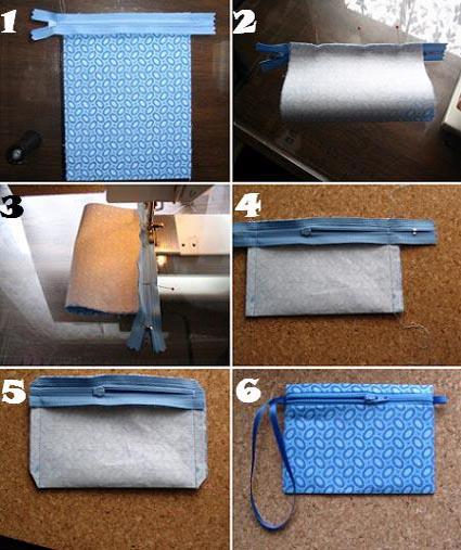 Proyectos de manualidades practico monedero de tela como hacer - Como hacer manualidades con tela ...
