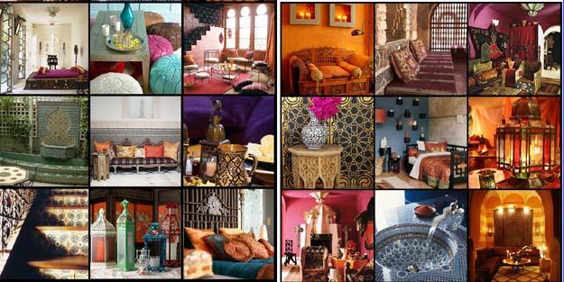 Interior maroko pelengkap rumah gaya islami