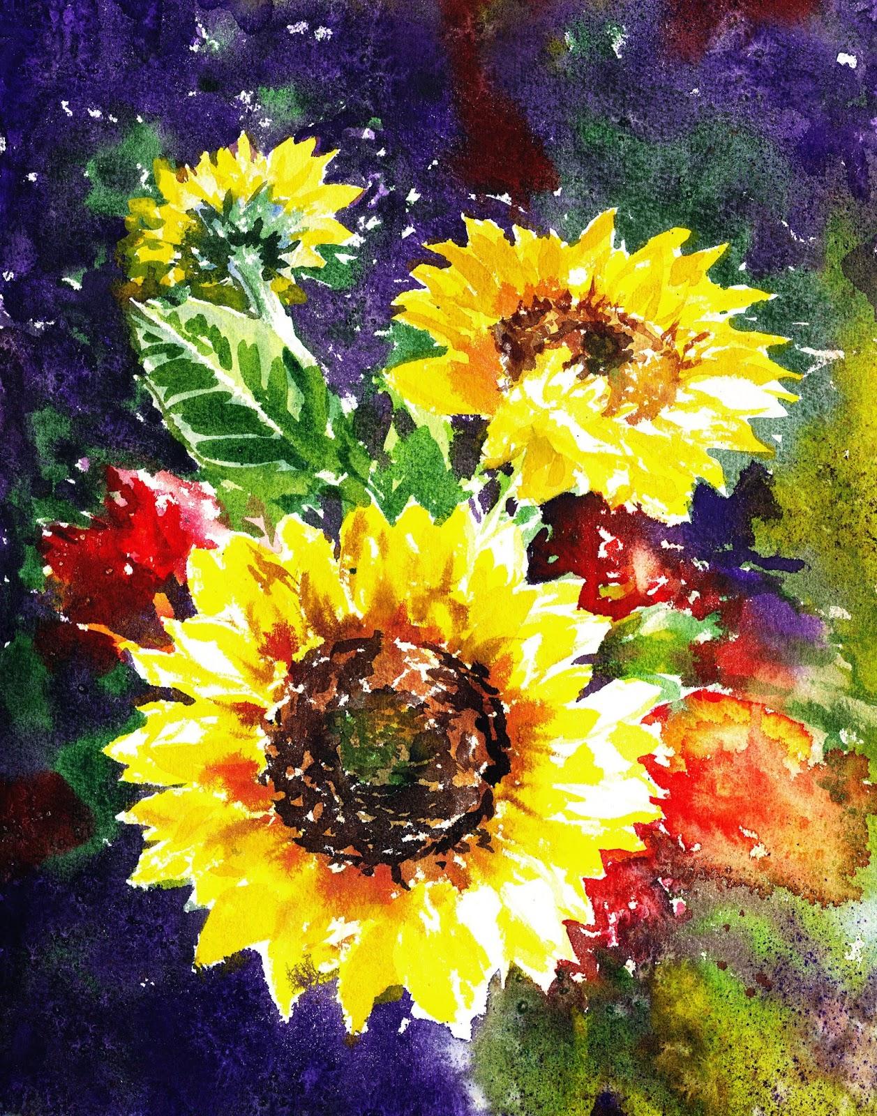 impressionistic floral design