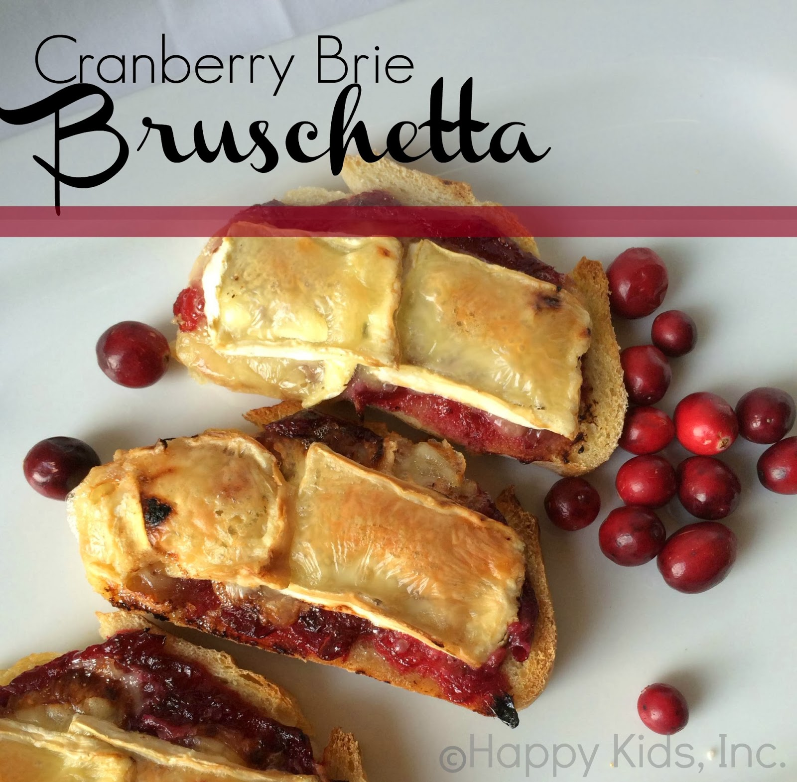 Cranberry Brie Bruschetta appetizer recipe Oscar Party