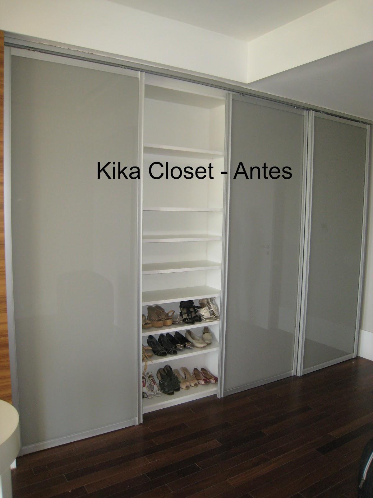Armario De Banheiro Planejado ~ Kika Closet Armário feminino de bolsas e sapatos