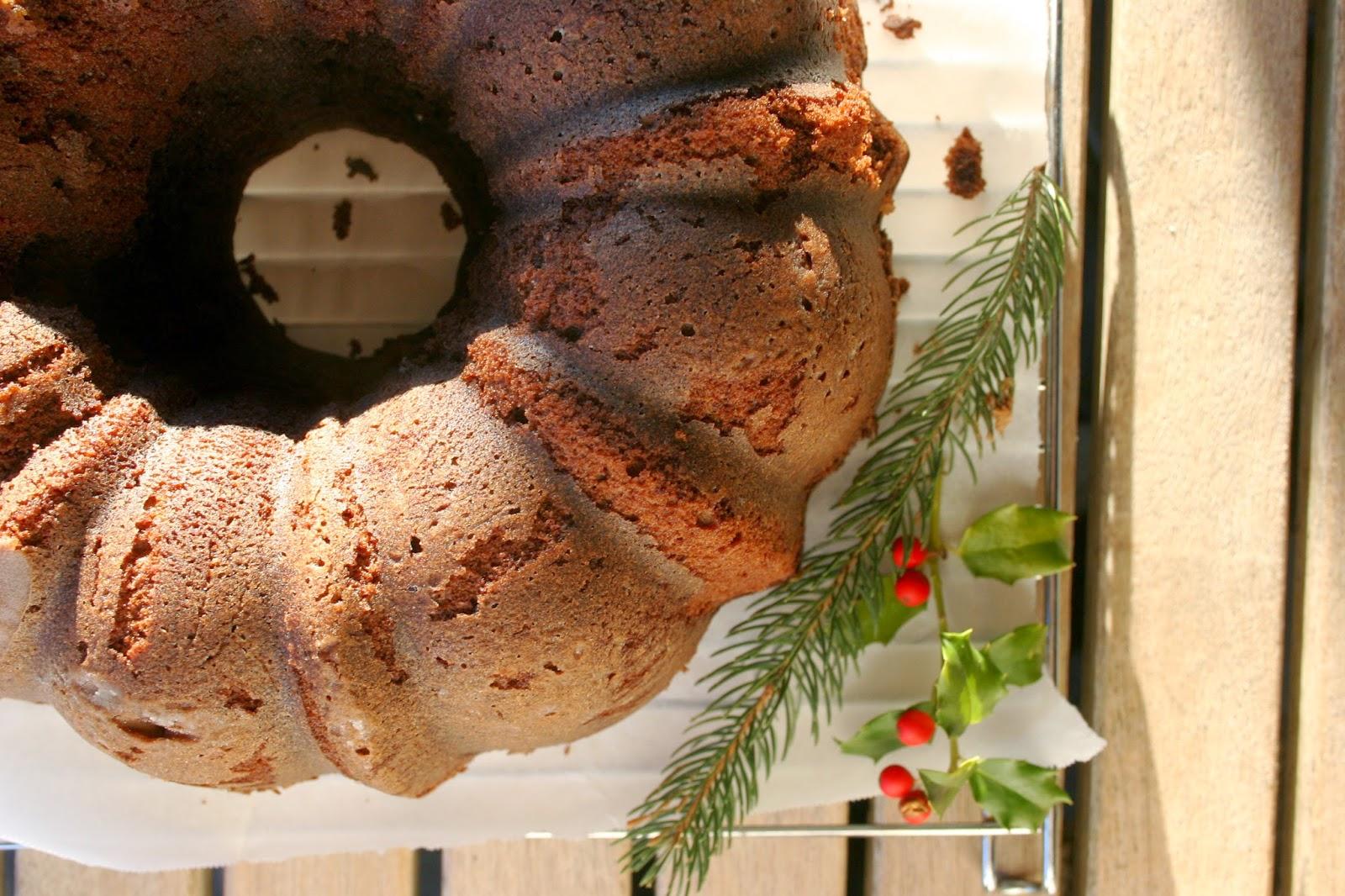 Whiskey-Soaked Dark Chocolate Bundt Cake for Christmas