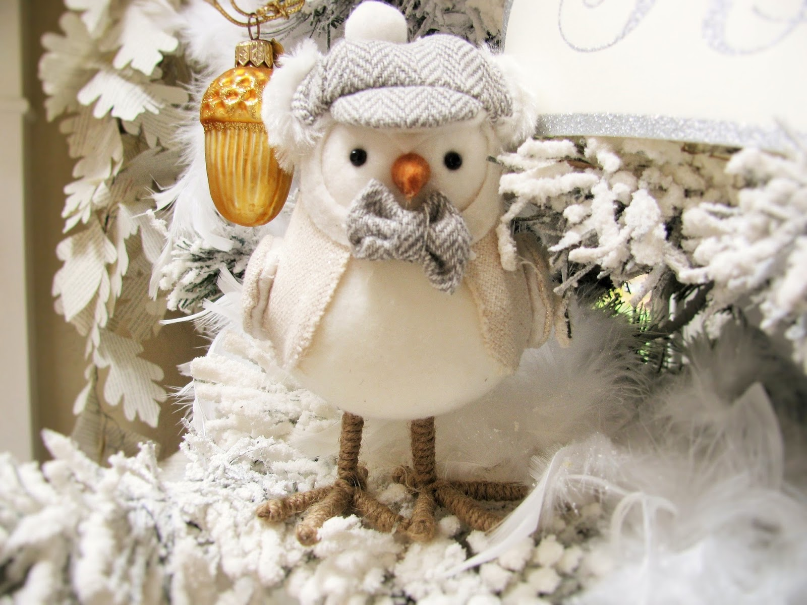 these cute bird characters were my inspiration for this years holiday decor of birds and nature its fun to see where decorating will take you when you - Bird Christmas Decorations