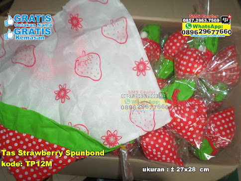 Tas Strawberry Spunbond unik