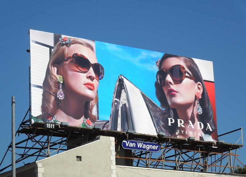Prada Spring 2012 retro eyewear billboard