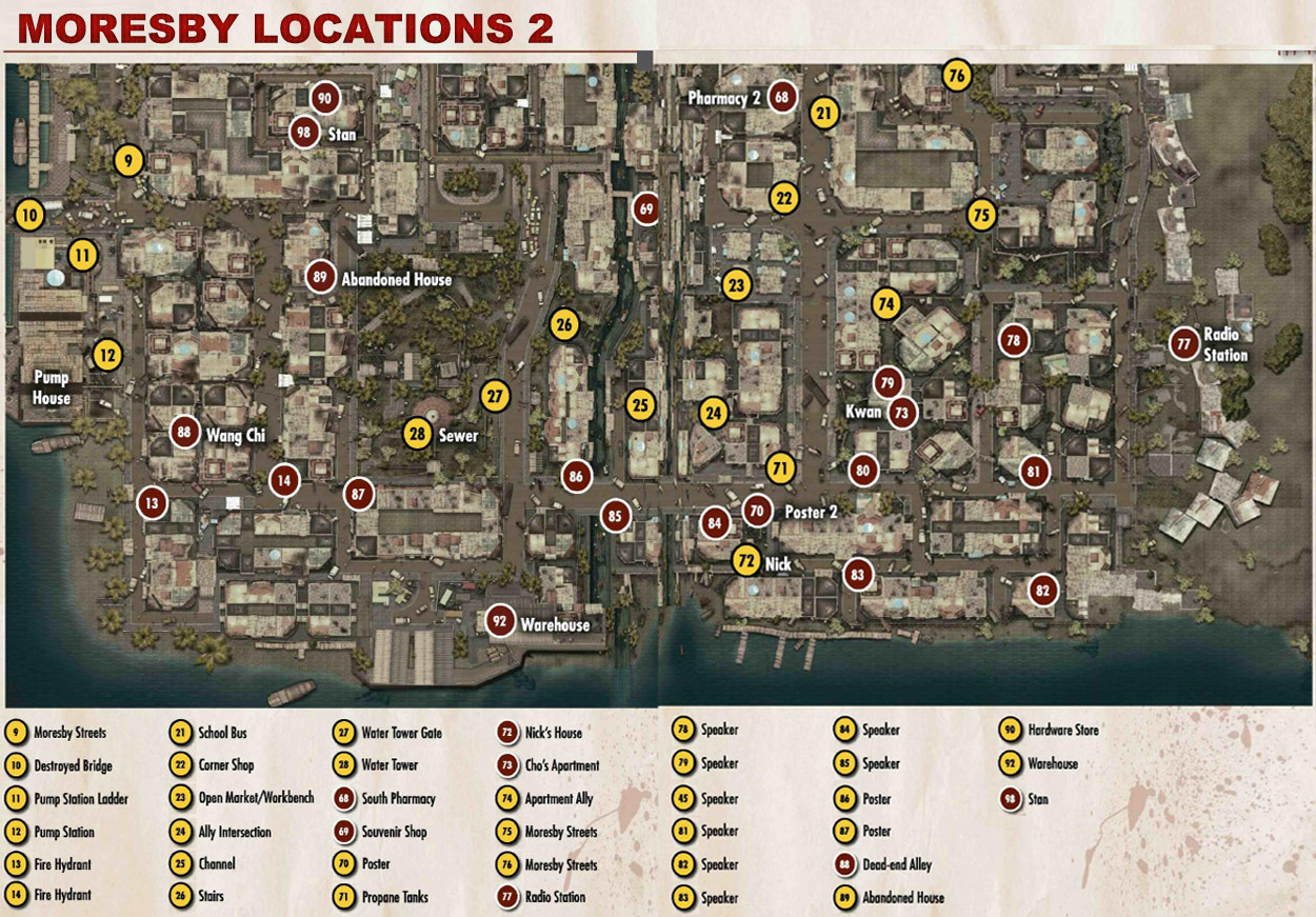 Dead Island Definitive Edition Collectables Locations