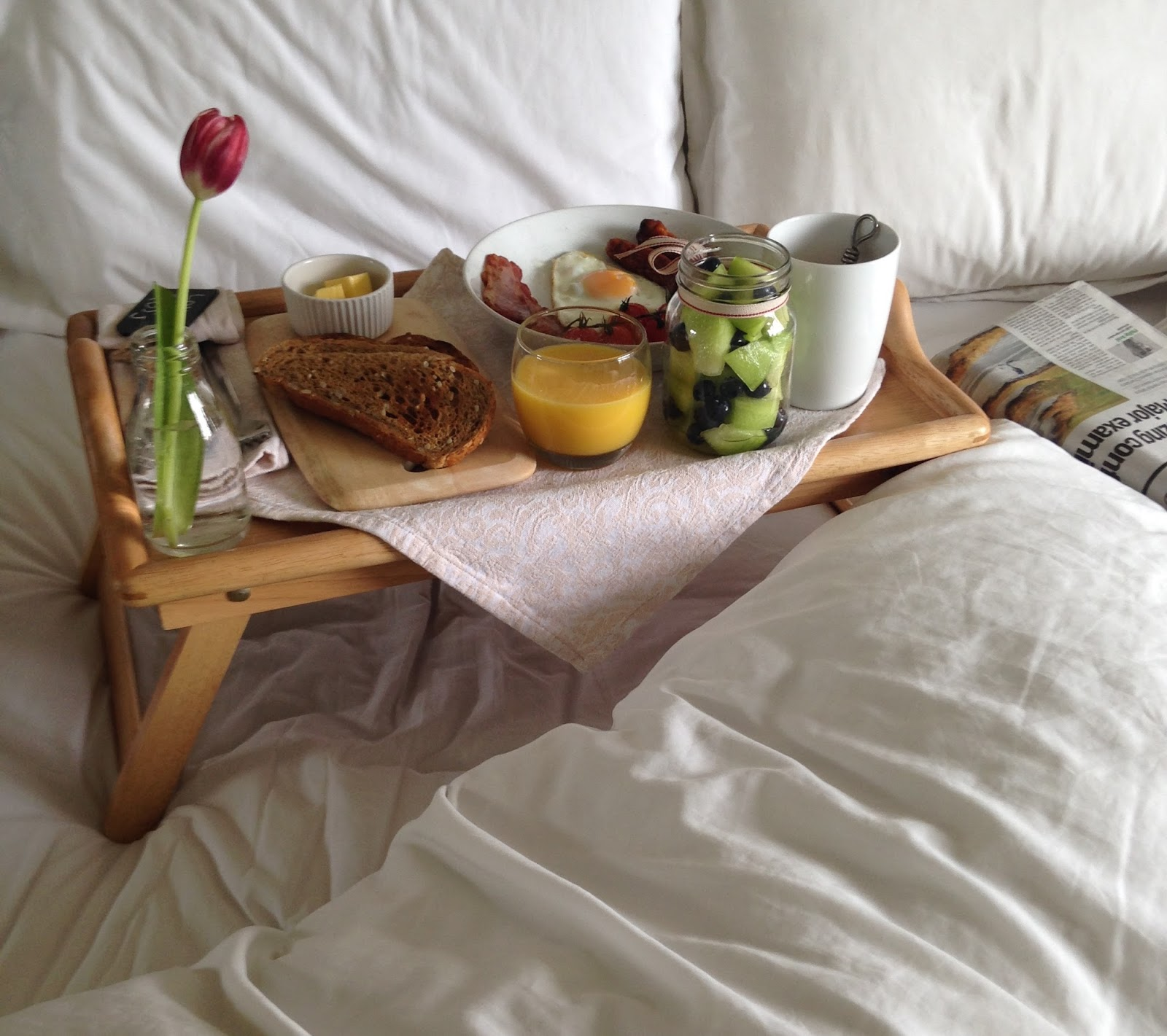 Father 39 s day breakfast in bed maison jen for A bed and breakfast