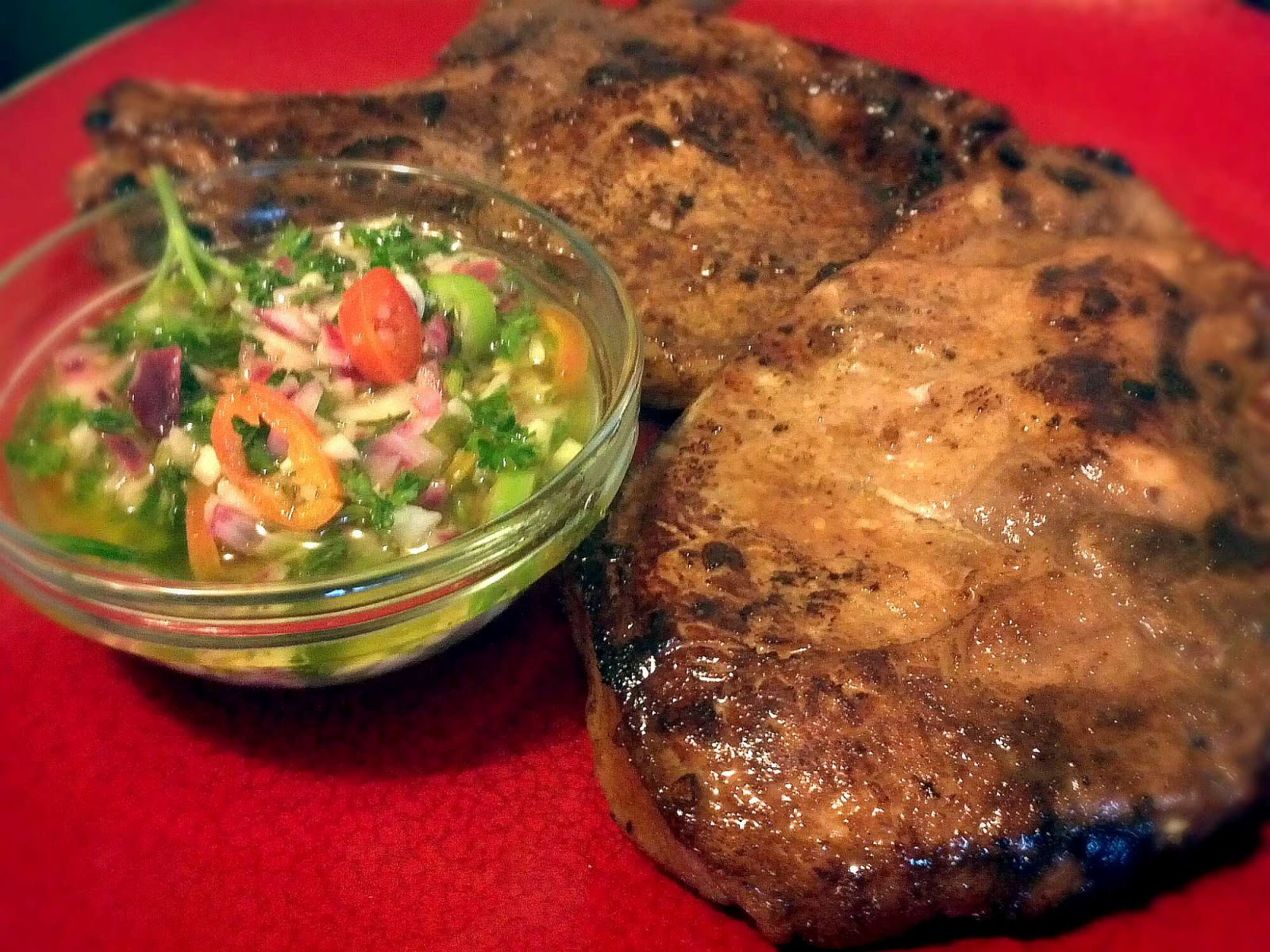 Food Lunatic: Pan Fried Pork Chops with Wasakaka Sauce