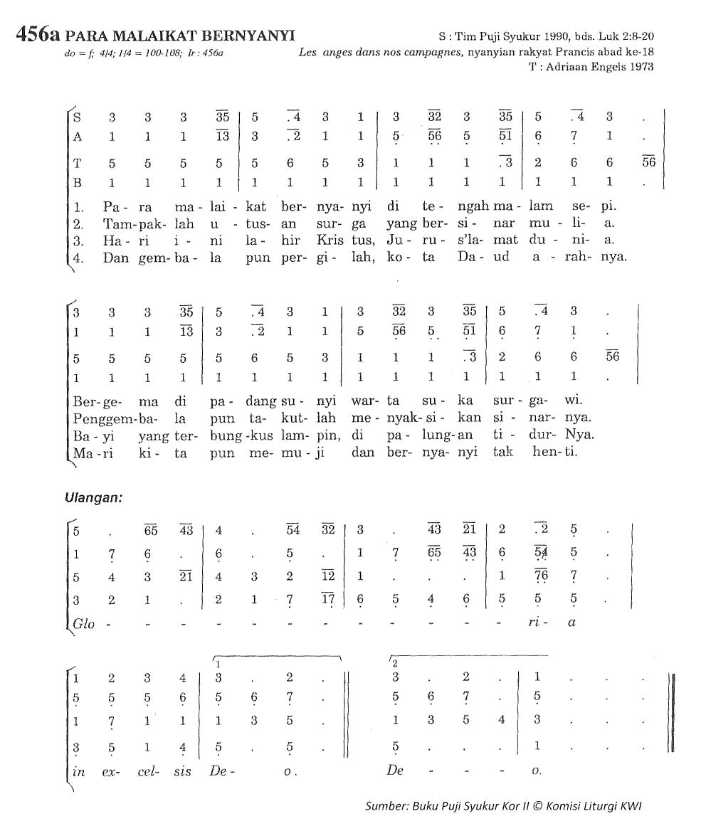 Lirik Dan Chord Lagu Para Malaikat Bernyanyi