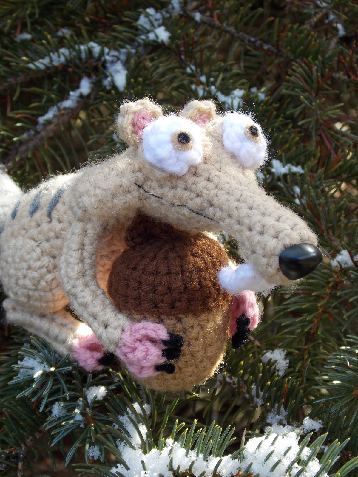 Crochet Amigurumi Squirrel : Great Grey Crochet: Scrat the Squirrel