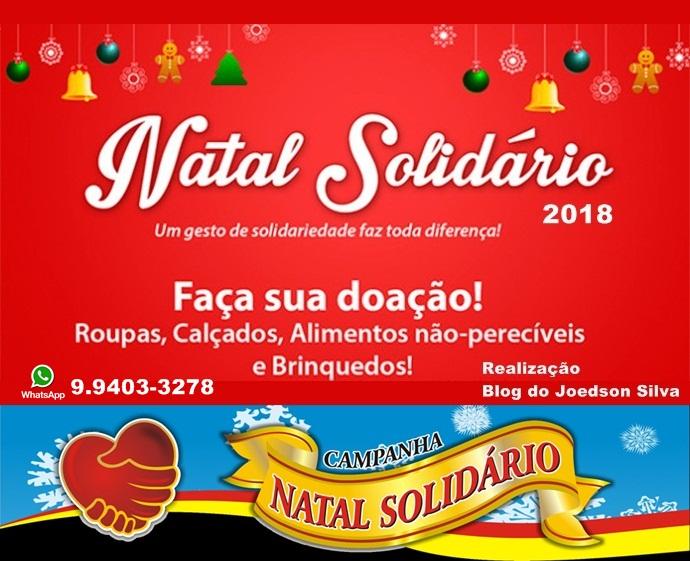 PARTICIPE DA CAMPANHA NATAL SOLIDÁRIO 2018