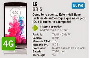 LG G3 S con Yoigo en septiembre - Precio y características