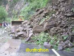 Natural disasters landslides in Gitgit, Buleleng, Bali