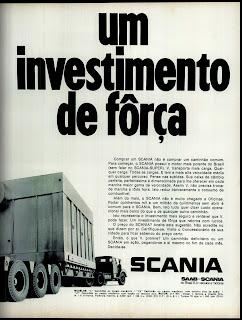 propaganda caminhão Saab Scania - 1970, os anos 70; brazil in the 70s;