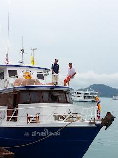 MV Sai Mai after the lifting and maintenance