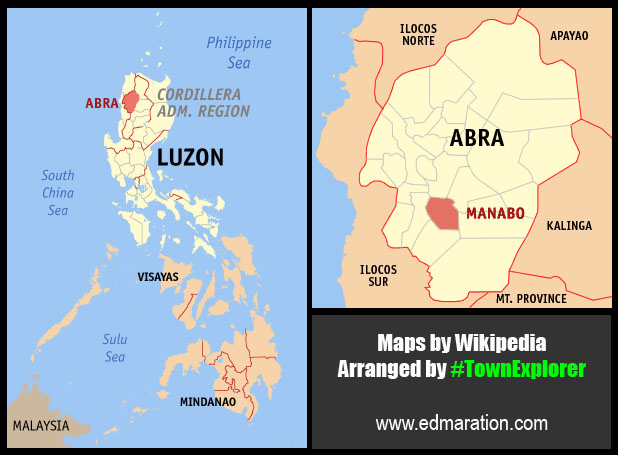 Map of Manabo, Abra | Courtesy of Wikipedia