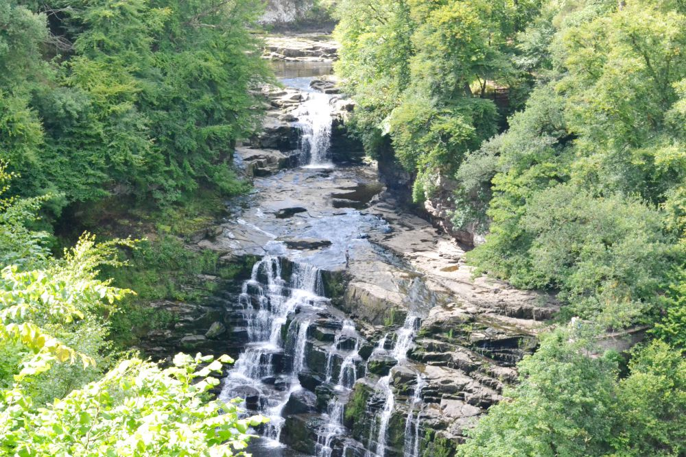 new lanark falls of clyde waterfall rocks