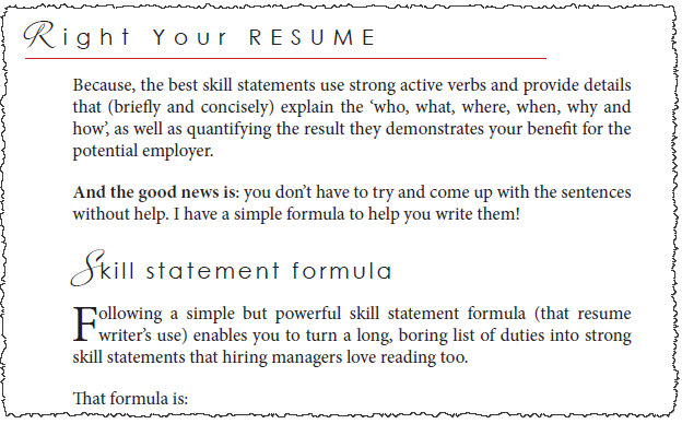 Right Your Resume print book sneak peek