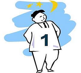 Figura de un hombre con el número 1