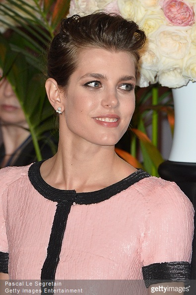 Charlotte Casiraghi attends the Rose Ball 2015 in aid of the Princess Grace Foundation at Sporting Monte-Carlo