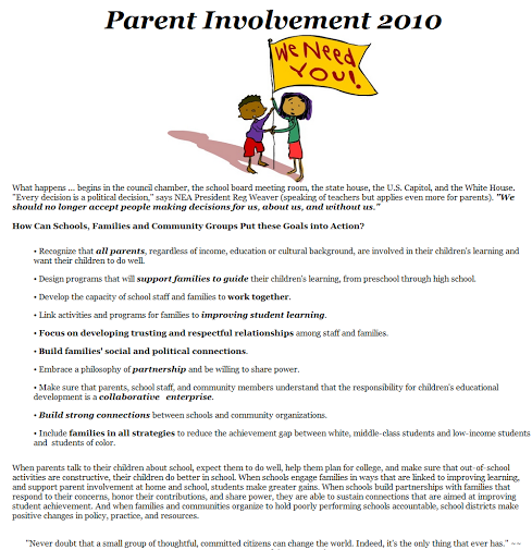 thesis statement parent involvement