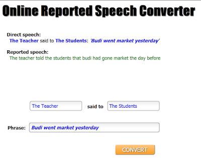 tool perubah kalimat langsung menjadi kalimat tidak langsung