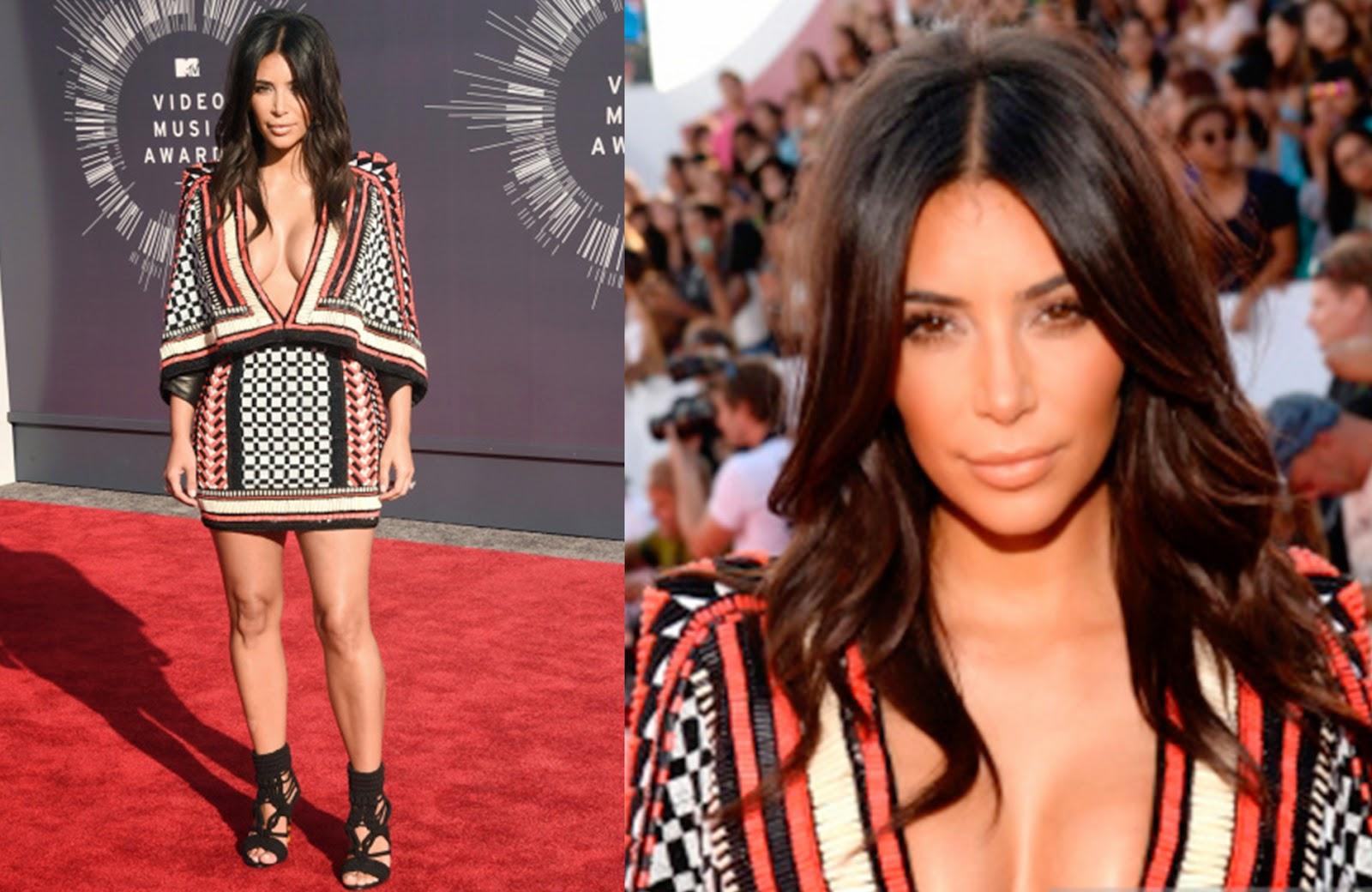 looks, maquiagens, bonitas, VMA, 2014, Kim Kardashian