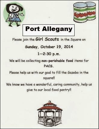 10-19 Port Girl Scouts Collect For Food Bank