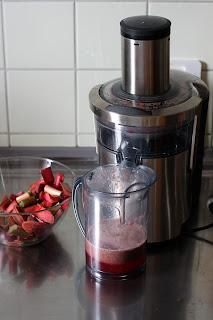 piros rebarbara esszencia consommé rebarbaralé gyümölcsprés
