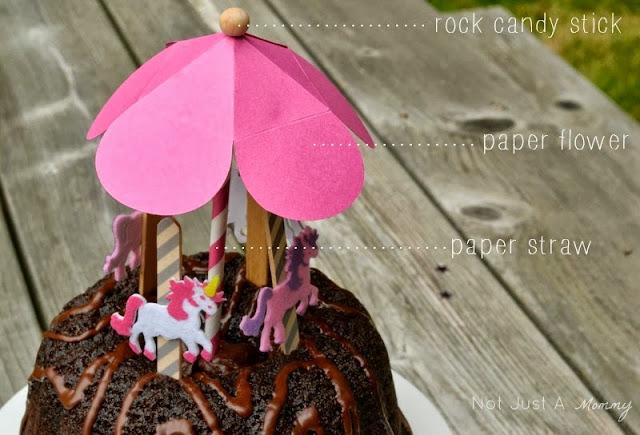DIY carousel cake topper labels