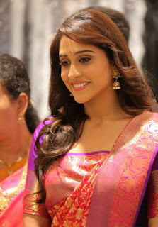 Regina in beautifull silk Saree looks Gorgeous at Dress Circle shopping mall in South India
