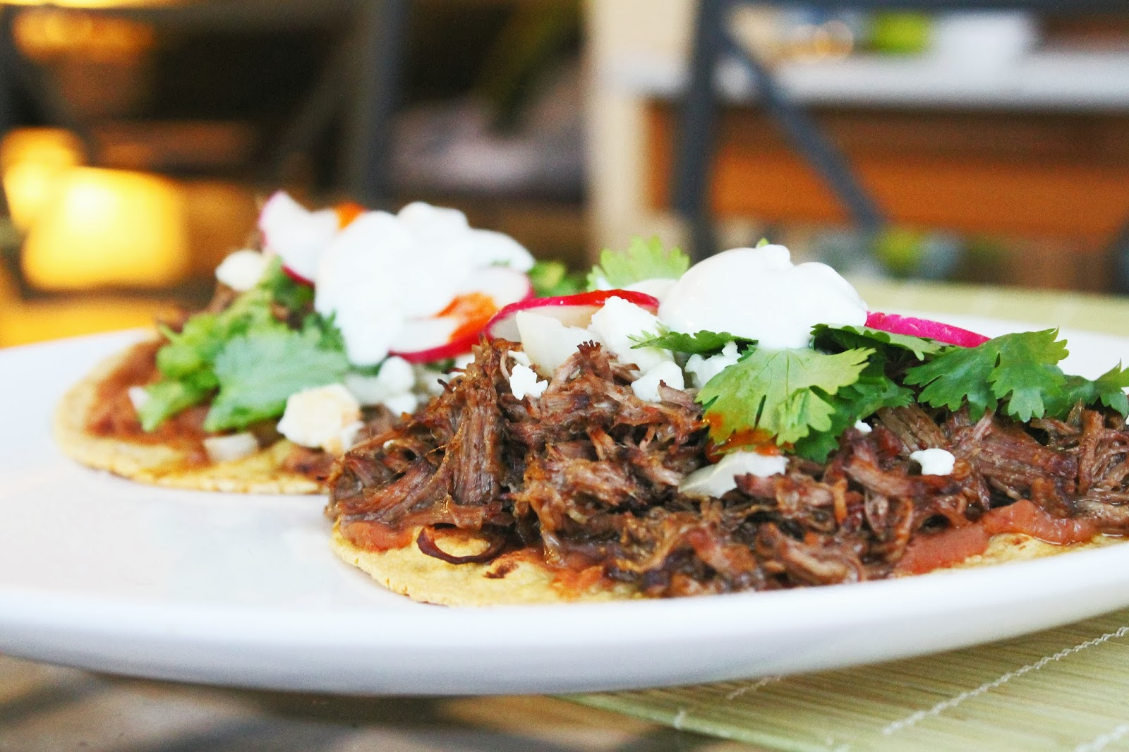 Two Recipes: Slow Cooker Braised Barbacoa Beef Tostadas
