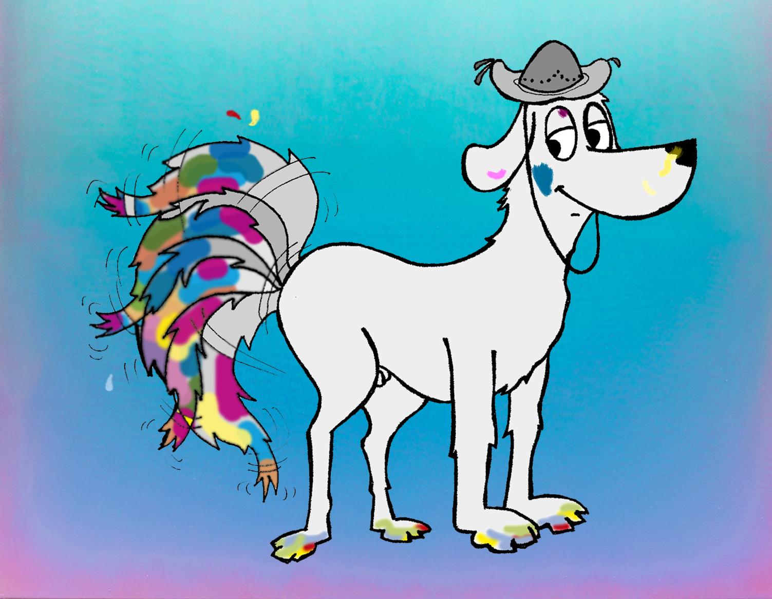 Lulu Cena - o cachorro pintor