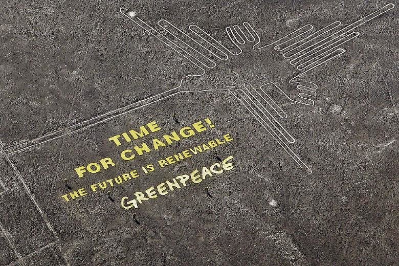 Greenpeace apologizes for protest at Peru's Nazca Lines